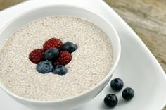 Chia Seed Oatmeal.  I eat oatmeal everyday for breakfast.  I must try this:)