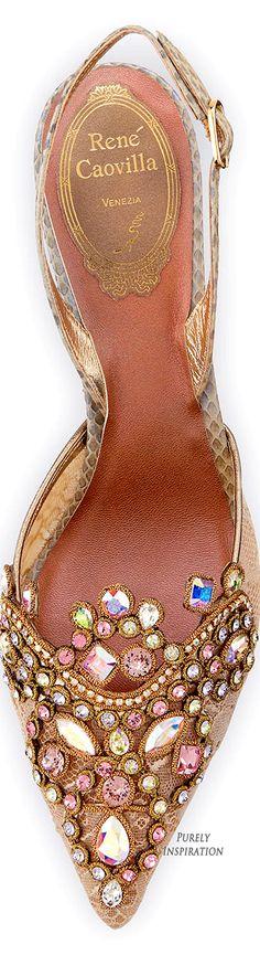 Rene Caovilla Jeweled Pump | Purely Inspiration