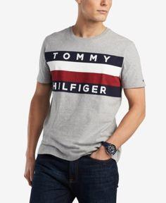 Tommy Hilfiger Men's Upstate Logo Flag T-Shirt, Created for Macy's - Gray XL Tommy Hilfiger T Shirt, Mens Big And Tall, Fashion Essentials, Boy Fashion, T Shirts, Kids Outfits, Shirt Designs, Man Shop, Flag
