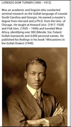 Lorenzo Dow Turner, PhD '26 A linguist who identified the African influences in…
