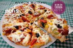 15 Dakikada Tavada Pizza Tarifi Homemade Beauty Products, Hawaiian Pizza, Iftar, Pizza Recipes, Deli, Vegetable Pizza, Baked Potato, Macaroni And Cheese, Fries
