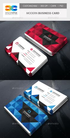 Modern Business Card — Photoshop PSD #media #math • Available here → https://graphicriver.net/item/modern-business-card/14450936?ref=pxcr