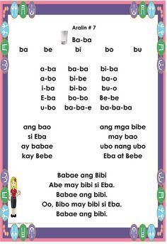 Gabay sa Pagbabasa Para sa Kindergarten at Unang Baitang ARALIN 7 Garden Theme Classroom, Classroom Bulletin Boards, Classroom Themes, Kindergarten Reading Activities, Reading Worksheets, 100 Number Chart, Tagalog Words, Filipino Words, Cvc Words