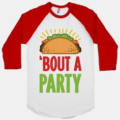 Whether it's a weekend party or a sweet Cinco de Mayo bash, this funny taco pun t shirt is a perfect party piece. Taco 'bout a sweet party, show off your awesome party skills and get your drink on with this funny drinking t shirt.