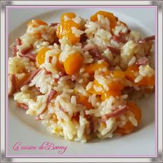 Carrot and bacon risotto (Cookeo) - Boomy& cuisine - A good risotto that I used to make in the pan before having the Cookeo. Vegan Zucchini Recipes, Healthy Egg Recipes, Healthy Casserole Recipes, Healthy Pastas, Vegetarian Recipes, Easy Vegetarian Casseroles, Best Risotto, Risotto Recipes, Chorizo