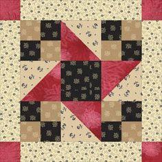 ~ Framed Friendship Stars Quilt Block Pattern.