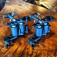 Flying irons tattoo machines!