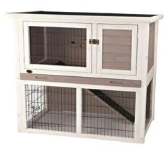 TRIXIE 3.4 ft. x 1.7 ft. x 3.2 ft. Medium Rabbit Enclosure with Sloped Roof Hutch-62305 - The Home Depot