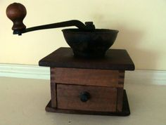Vintage wooden Coffee Grinder Dove tail joints by TheNorthCottage, $25.00
