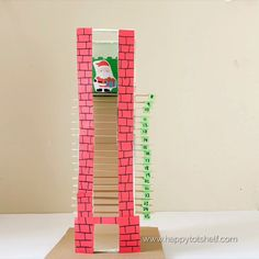 Our most popular DIY Kids Advent Calendar idea ever! Pull out a popsicle stick each day and watch Santa move down the chimney. Christmas Countdown Crafts, Christmas Calendar, Printable Christmas Cards, Christmas Activities, Christmas Crafts For Kids, Christmas Fun, Holiday Crafts, Christmas Tables, Modern Christmas
