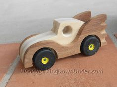 Download free plans to build this batmobile toy car from WoodworkingDownUnder.com