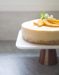 peach + honey ice cream cake | what's cooking good looking
