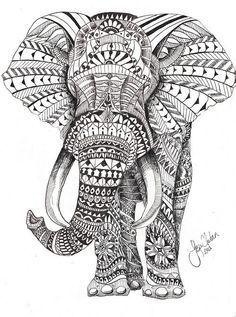 elephant mandala coloring pages bing images
