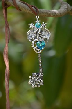 Ice Dragon - picture, key, on, tree - photography Key Jewelry, Cute Jewelry, Hair Jewelry, Crystal Jewelry, Jewelery, Ice Dragon, Dragon Jewelry, Magical Jewelry, Key Necklace