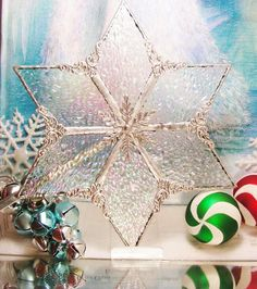 Iridescent Ice  Tree Topper by MoreThanColors on Etsy