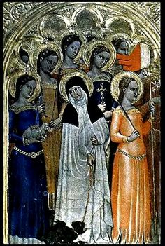 Giovanni da Milano, St. Catherine of Siena and Other Saints, c. 1360
