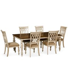 Dovewood Dining Room Furniture 7 Piece Set Table And 6 Side Chairs