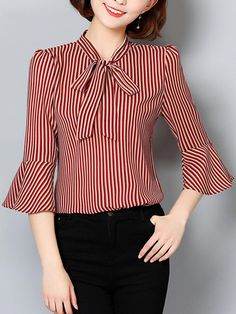 46 Shirts Blouses That Make You Look Cool Blouses Blouse And Skirt, Blouse Dress, Cute Blouses, Shirt Blouses, Modest Fashion, Fashion Dresses, Nice Dresses, Dresses With Sleeves, Stitching Dresses
