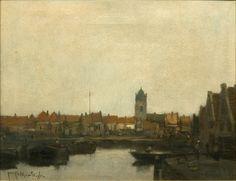 Jacques Witjens Stephan    Canal de Holanda   s.f.   Óleo sobre tela   44 x 58 cm