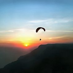 Paragliding Painting - Sunset Paraglide by Tracey Harrington-Simpson https://pixels.com/featured/sunset-paraglide-tracey-harrington-simpson.html?newartwork=true