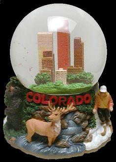 Colorado skyline snow globe from snowdomes.com