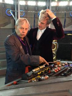 Frazer Hines and Peter Capaldi