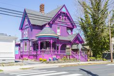 Find out what to do and where to live in Lewes, Delaware. Is living in this Delaware community right for you? See photos and learn more at Long and Foster. Painted Lady House, Rainbow House, Shotting Photo, Victorian Style Homes, Purple Home, Colourful Buildings, Bohemian House, Happy House, Cute Home Decor