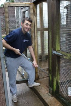 Our Major Projects apprentice, James Roberts, at St Francis Animal Welfare.