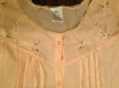 """Embroidered Long """"Granny Nightgown/Duster"""" Cotton Blend Plus Size XXL  $11.99 eBay"""