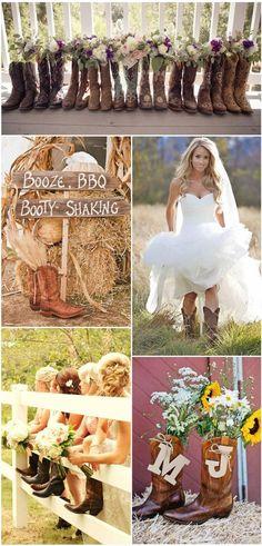 Chic Western Cowboy Boot Country Wedding Ideas