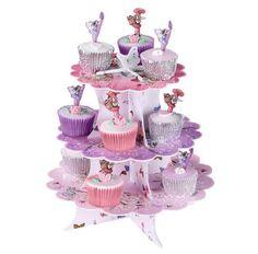 KidsPartyKitchen :Flower Fairy cake stand