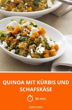 Quinoa mit Kürbis und Schafskäse - smarter - Dieses Essen kannst du perfekt mit ins Büro nehmen!