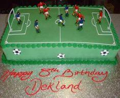 Football Pitch Birthday Cake
