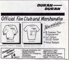 Take a look back in Duran Duran history with the Monthly DD Collector's Corner: http://duran.io/16xIkgh