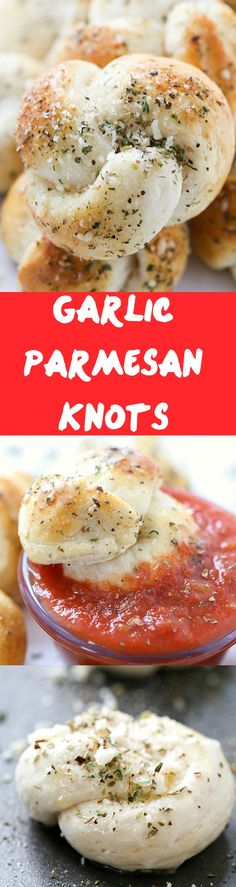 Garlic Parmesan Knots Recipe - Move on over garlic knots from scratch, these only take 20 minutes from start to finish! Grab your marinara sauce and let's dig in!
