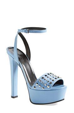 Gucci 'Leila' Studded Platform Sandal (Women) available at #Nordstrom