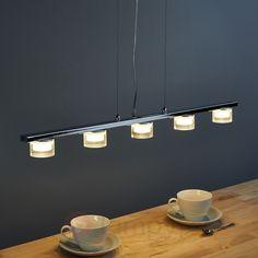 5-punktowa lampa wisząca w kształcie belki Luc LED sicher & bequem online bestellen bei Lampenwelt.de.