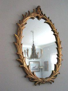 Hollywood Regency Gold Gilt Mirror by Serge Roche, c 1940