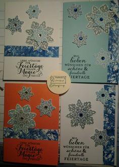 Meine Karten mit dem Set *Flockenzauber * von Stampinup  creativ  by maro