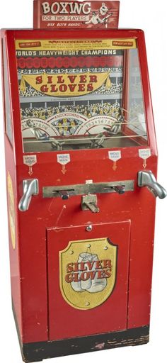 Silver Gloves Boxing Arcade Machine by Mutoscope, 1937