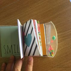Scrapbookingitalia: Tutorial mini block notes Scrapbook Albums, Mini Books, Happy Planner, Project Life, Craft Fairs, Washi, Diy Art, Mini Albums, Cardmaking