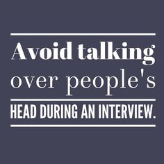 MEDIA TIP: Avoid talking over people's heads during an interview. When you talk above people's heads you drive them away. Answer questions as simply as possible. #BeAnAuthor  Join the discussion> TheBBBClub.com.