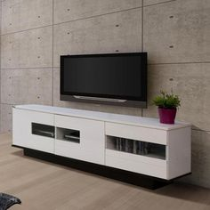 White Gloss Door Waverley Lowline TV Unit