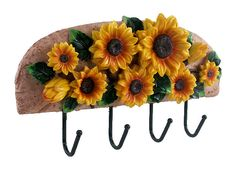 sunflower kitchen decor | ... TICO DECORATIONS-KITCHEN UTENSIL HOLDER/W KITCHEN TOOLS SUNFLOWER