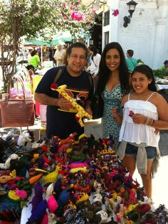 Visiting the farmers Market Puerto Vallarta with my wife and daughter, every saturday nov-may from10-14 pm.