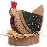 poule en carton (s'inscrire pour obtenir tuto et patron ???) - we need to make this for Rosa
