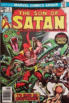 Marvel Comics SON of SATAN Last Issue of this Satanist Supernatural Comic Action by Bill Mantlo & Russ Heath
