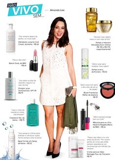 Xampu, blush, protetor, hidratante... Amanda Lee lista seu top 10 de beleza