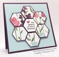 Love is Happiness, Painted Blooms Designer Series Paper, Hexagon Punch, Stampin' Up!
