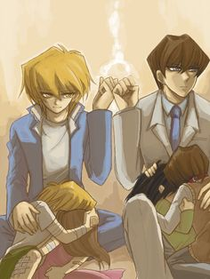 Big brothers for the win! - Joey Wheeler, Seto Kaiba, Mokuba Kaiba, Serenity Wheeler